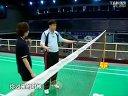 肖杰教打羽毛球系列之4       正手挑球正手勾对角网前步法