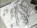 山水画技法(墨法)--积墨法