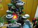 树脂假山流水喷泉工艺摆设风水轮鱼缸盆景创意家居饰品室内加湿器风水球工艺品摆件858