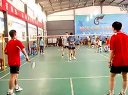 廊坊六运会羽毛球比赛东鹏与广阳双打