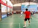 廊坊六运会羽毛球比赛团体赛上三河王伟与广阳于鑫单打