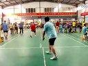 廊坊六运会羽毛球比赛团体四进二比赛三河王伟与大厂杨书记单打