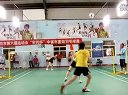2012.6.16廊坊六运会羽毛球比赛小组赛煜娜组合与农兴种业队双打第二局.