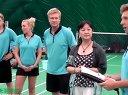 丹麦DGI羽毛球队和北京尤尤谷羽毛球俱乐部交流视频