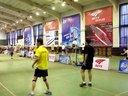 2012索牌羽毛球比赛视频  赵剑刘际 VS 蒋东海敬义 20:22 17:21  —运动天视频