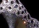 2012新款正版水晶鞋水钻高跟鞋新娘鞋婚鞋婚礼鞋手工宴会透明女鞋
