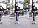 【巴黎时装周】刘诗诗身着chanel走在巴黎街头