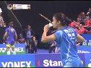 广濑荣理子vs蓬迪 2013法国公开赛半决赛 羽毛球知识教学网