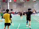 20131201胜利杯羽毛球公开赛;潘伟和杨涛pk精英二队