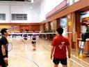 20131201胜利杯羽毛球公开赛,屠龙和李军pk精英一队