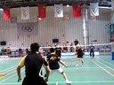 20131201胜利杯羽毛球公开赛,李军和屠龙pk市政集团队