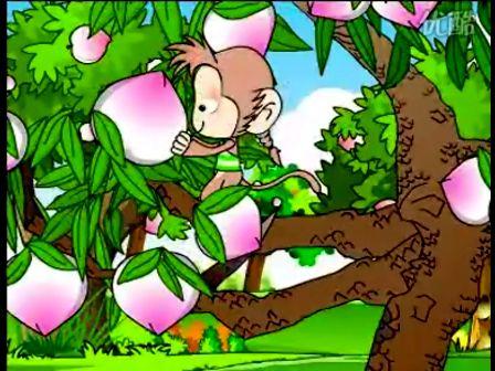 儿童故事动画小猴摘桃