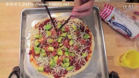 自己在家做披萨饼 pizza