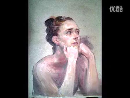 油画肖像写生色彩人物水粉人物写生油画基础入门油画