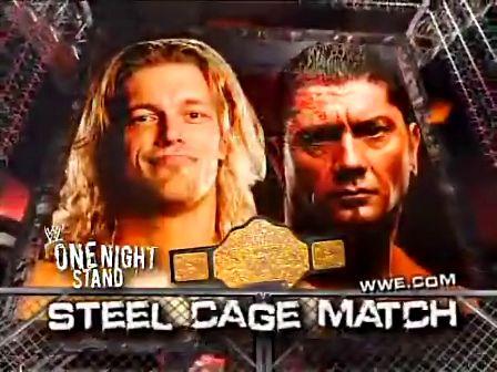艾吉/WWE钢铁牢笼赛巴蒂斯塔VS艾吉 Batista v...