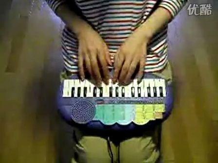玩具keyboard演奏卡农D