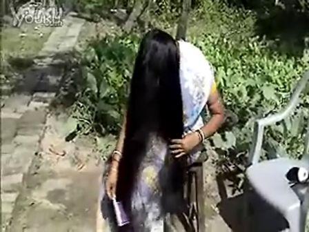 国外长发女