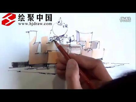 郑州手绘培训—绘聚中国李国胜沙发组合马克笔上色