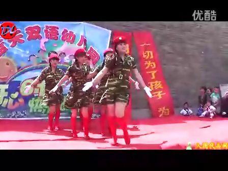 """2012年蓝天双语幼儿园庆""""六一""""教师节目2《潇洒女兵"""