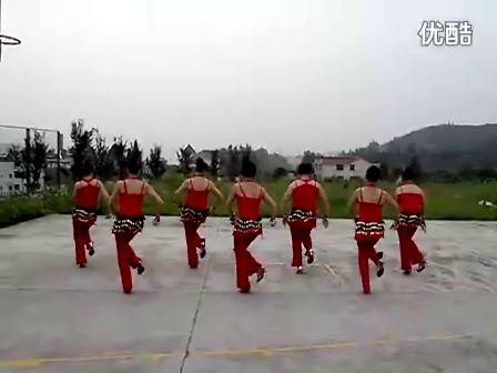 茅坪蚕桑花广场舞印度美女
