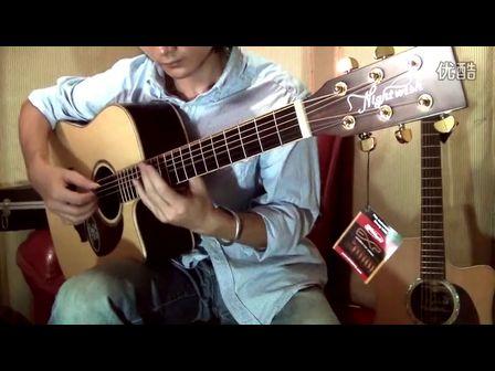国内著名指弹音乐人-任强 演绎BLUES指弹风格  拉维斯吉他800D录制