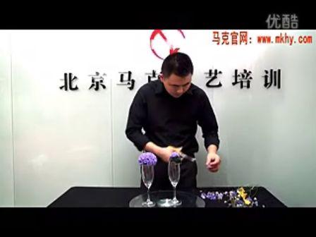 酒店客房精美艺术花篮__插花视频