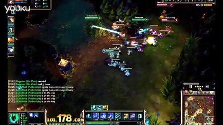 [LOL]精彩击杀:辅助锤石 越塔强杀三人