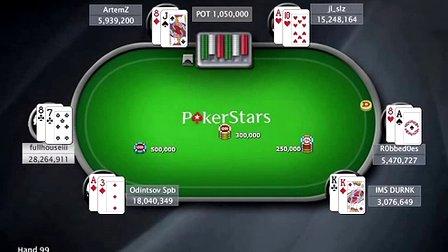 中国扑克人:扑克之星周日百万赛视频Sunday Million2014-2-2
