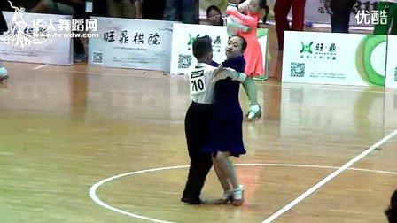 2014年第12届全国青少年体育舞蹈锦标赛少儿II组B级赛S半决赛快步张华森 刘郁馨710号00228