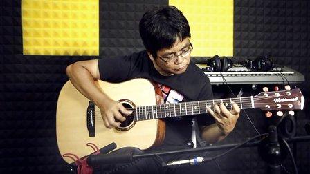 买什么全单吉他好?阿涛吉他指弹独奏即兴鸿雁 中国第一品牌沃迪森WD-20S试弹