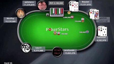 中国扑克人:扑克之星周日百万赛 Sunday Million 27_7_14