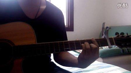 吉他弹唱《看月亮爬上来