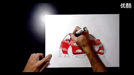 suv汽车马克笔手绘教程