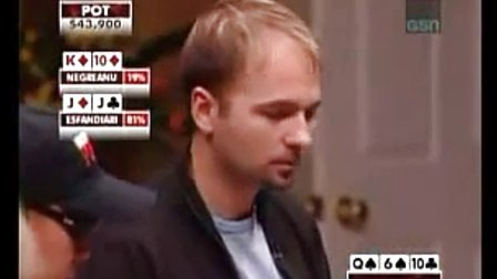 High Stakes Poker- Negreanu Vs. Esfandiari- BAD BEAT