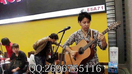 指弹演奏家谷本光2014上海乐器展天音T-903拾音器AGA音箱演出现场