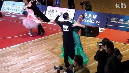2015年WDC世界超级巨星亚洲巡回赛世界摩登舞职业公开组半决赛快步维克多冯 安娜斯塔西雅 00300