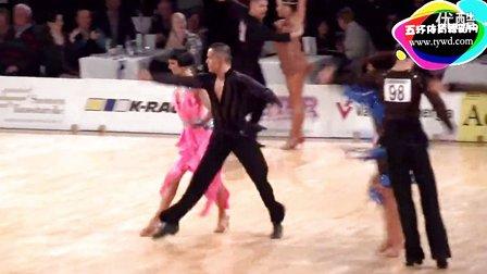 2015年WDSF世界体育舞蹈大奖赛(芬兰站)第三轮桑巴Marcos - Nowak, ESP