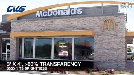 麦当劳橱窗透明LED显示屏,值得一看!