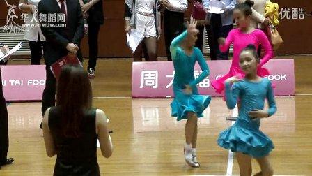 2015年CBDF中国杯巡回赛(上海站)业余12岁女单A组L半决赛牛仔牟盈羽