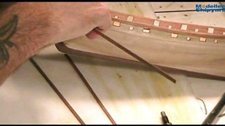 纳尔逊夫人号的制作 7.第二层船壳及尾板铺设