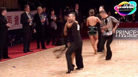 2015年WDSF体育舞蹈公开赛(香港站)缅甸万丰国际老百胜第二轮牛仔谷庆午 YuliyaSt