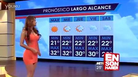 墨西哥天气预报员 Yanet Garcia  反重力翘臀