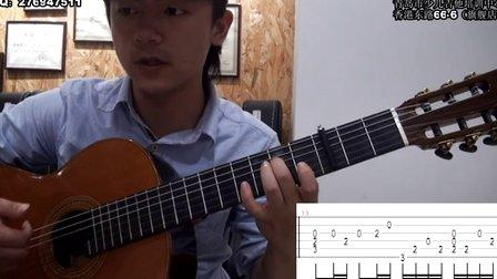 【吉他指弹教学】速度与激情7《see you again》第二部分琶音,打板,节奏讲解----潇潇指弹
