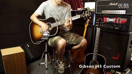 吉普森Gibson J45 custom视听评测对比Eastman e10ss