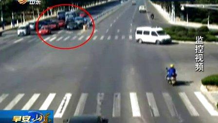 好司机 闯红灯为生命让行
