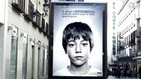 只有孩子才能看到的求助广告