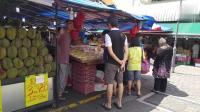 新加坡街頭榴蓮店, 價格很便宜, 全是上等好榴蓮,