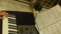 電子琴演奏《月亮代表我的心》音色:弦樂、四角波形主音、GM幻想音   速度:80   1=F