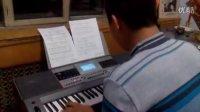 我弹的电子琴陕北民歌《山丹丹开花红艳艳》