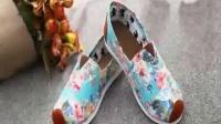 外貿特價 出口日本懶人鞋 布鞋 舒適透氣 印花全棉 高端品質